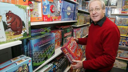 Store manager Gary Diamond in happier times at Toyology