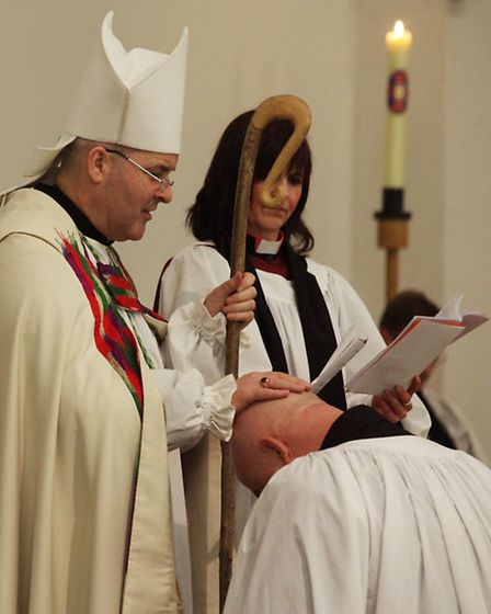 Reverend Robert Marshall is officially licensed by the Bishop of Chelmsford as the new vicar at St B