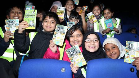 Hartley Primary schoolchildren celebrate World Bood Day at the Stratford Picturehouse.
