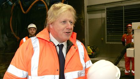 Boris Johnson visiting Crossrail academy in Ilford as part of National Apprentice Week.