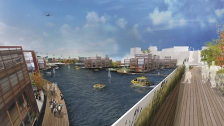 Plans for he UK's largest 'floating village' have been revealed for Newham's Royal Docks featuring