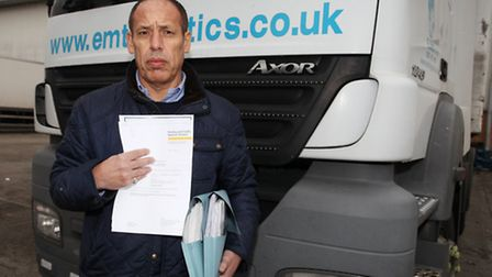 EMT haulage company director, Michael Mehmet, says Newham Council keeps issuing his lorries with fi