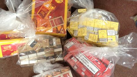 Fake cigarettes found during the Trading Standards raid.