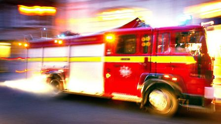 Firefighters put out the blaze in Church Road, Noak Hill