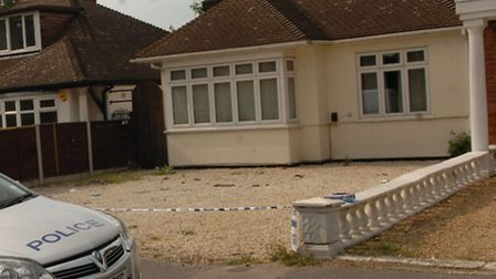 The house in Crow Lane where Luke Harwood's attack began