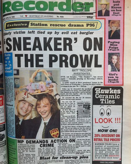 Romford Recorder front page April 23, 1993