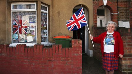 Royalist Lil Forkner celebrates the Queen's 87th birthday.