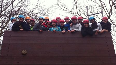 Redbridge Police Youth Panel on one of their team-building and activity days at Lambourne End.
