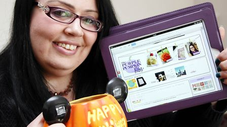 Michelle Ordever's Purple Pumpkin Blog has been shortlisted for a national award (photo: Sandra Rows