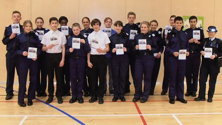 Enthusiastic cadets hand out crime prevention advice