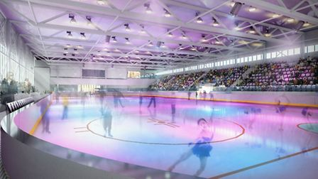 Artist impression of how the ice rink in the new Romford Leisure Development is expected to look.
