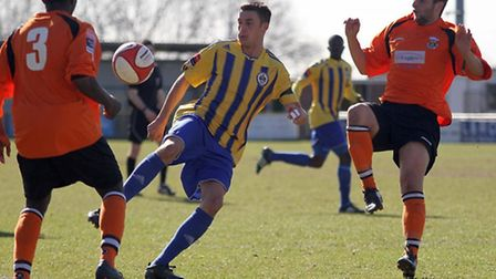 Action from Romford's clash with Waltham Forest (Mick Kearns/TGSPHOTO)