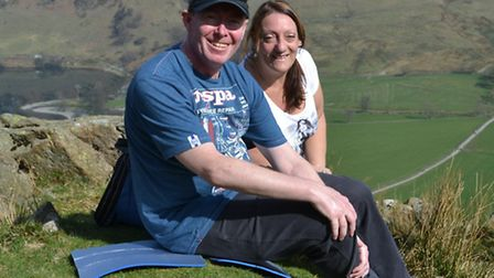 Yaz Stevens is doing the Star Walk in memory of husband Darren, who died of bowel cancer in December
