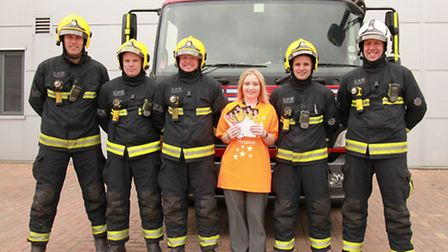 Firefighters Glen Knight, Andy Sharpe, Glen Ford, Lee Wolton and White Watch Manager Steve West join