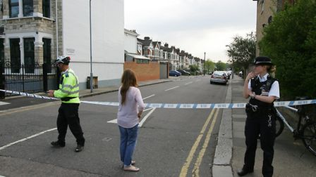 The cordon was put in place this afternoon before being widened