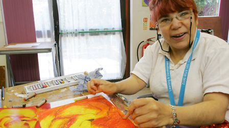 Louise Steadman brushes up her art skills at Link Place