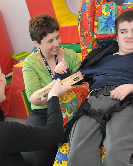 Maeve Rigney does music therapy at Haven House