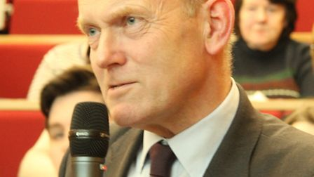 London Assembly's John Biggs speaking at the Tower Hamlets consultation meeting on fire station cuts