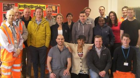 Taylor Woodrow employees with ASTA Community Centre Hub staff.