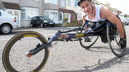 Gary Donald is doing the London Marathon in a race wheelchair