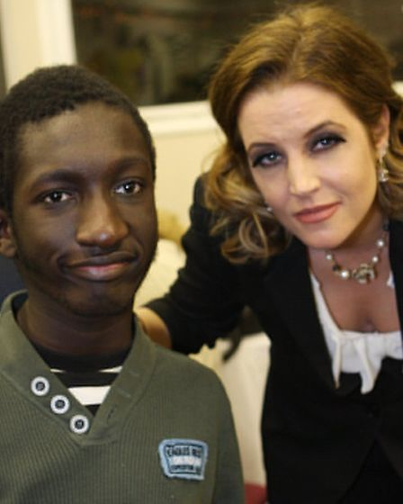 Dream Factory supporter Lisa Marie Presley meets Isaac