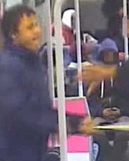This man is wanted in connection with a baseball bat attack on a train