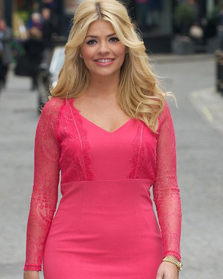 Holly Willoughby stepping out for her Spring/Summer 2013 Very.co.uk launch. Picture: PA Photo/Handou