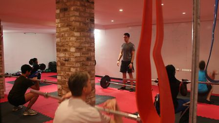 Shaun leading a session at The Only Way is Crossfit.