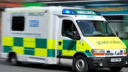 The teenager was rushed to hospital.