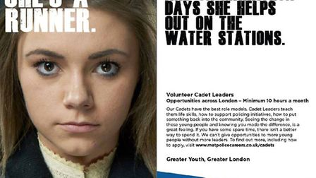 Chloe Armstrong is the face of a new Metrolpitan Police campaign to encourage more adult volunteers