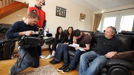 Jack Sherratt receives the news he has won a pro contract with Leyton Orient