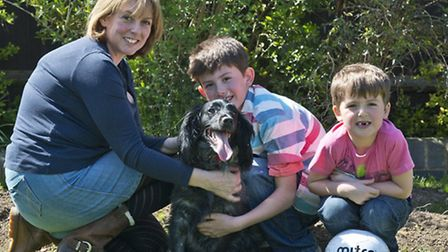 A Hornchurch family will be taking part in the St Francis Hospice dog walk. Left to right Claire Hic