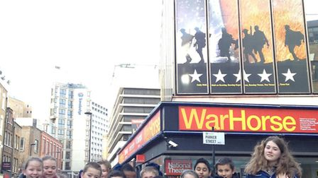 Children from Broadford Primary School went to see War Horse in the West End.