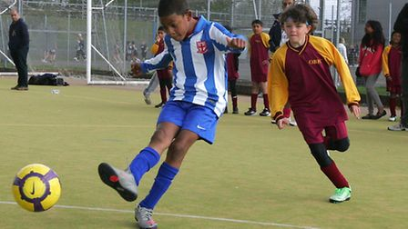 Chairty football match at Redbridge sports centre organised by Halifax in aid of Banardos