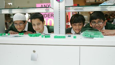 Yusuf Hajee, Yaseem Mohammed, Uthman Ahmed and Haashir Mohammed with their stall at the Exchange sho