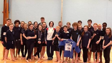 Team GB athlete Faith Pitman gives a judo masterclass to pupils from Brentwood County High School.
