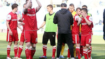 Orient players acknowledge their supporters (Pic: Simon O'Connor)