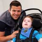 Mark Wright with Callum Van-As, of Woodford Green.