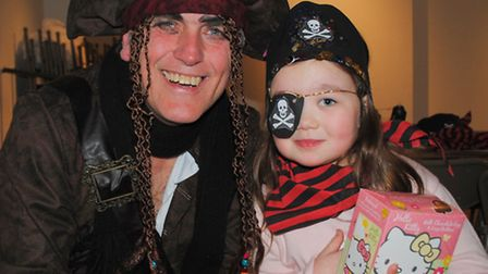 Pirate Pete entertained children at Havering Museum.