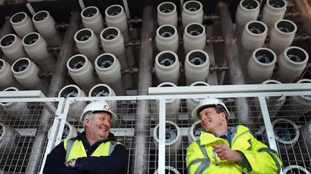 CEO of 2OC Andrew Mercer and Thames Water commercial director Piers Clark
