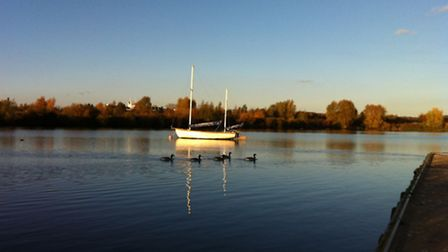 A perfect autumn day at Fairlop Waters - one of the many reasons to enjoy Redbridge?