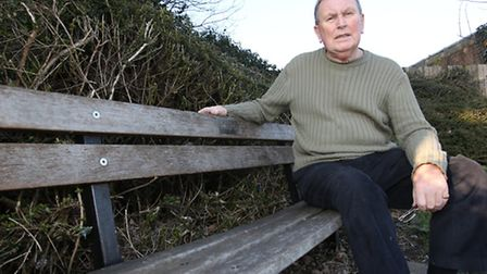Cllr Richard Hoskins on one of the Grove Road benches