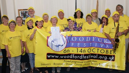 Volunteers helping out during the Woodford Festival