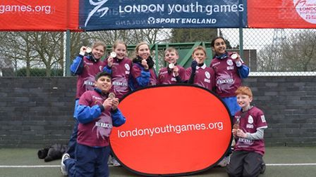 The netball team from Oakfields Montessori School who won bronze in the London Youth Games last mont