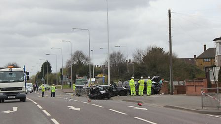 The cars collided at around midday. Picture: James Masterton