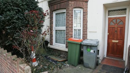 The house in Albert Square where police went to make an arrest