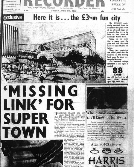 Romford and Hornchurch Recorder front page, April 6, 1973