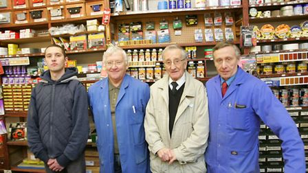 From left: Reece Sampson, Jeff Smith, Ron and Martin Sampson