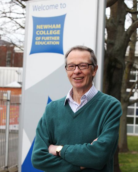 Retired math teacher Charlie Carter at Newham College of Further Education, Stratford Campus.