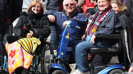 West Ham disabled supporters during Sunday's Liverpool game